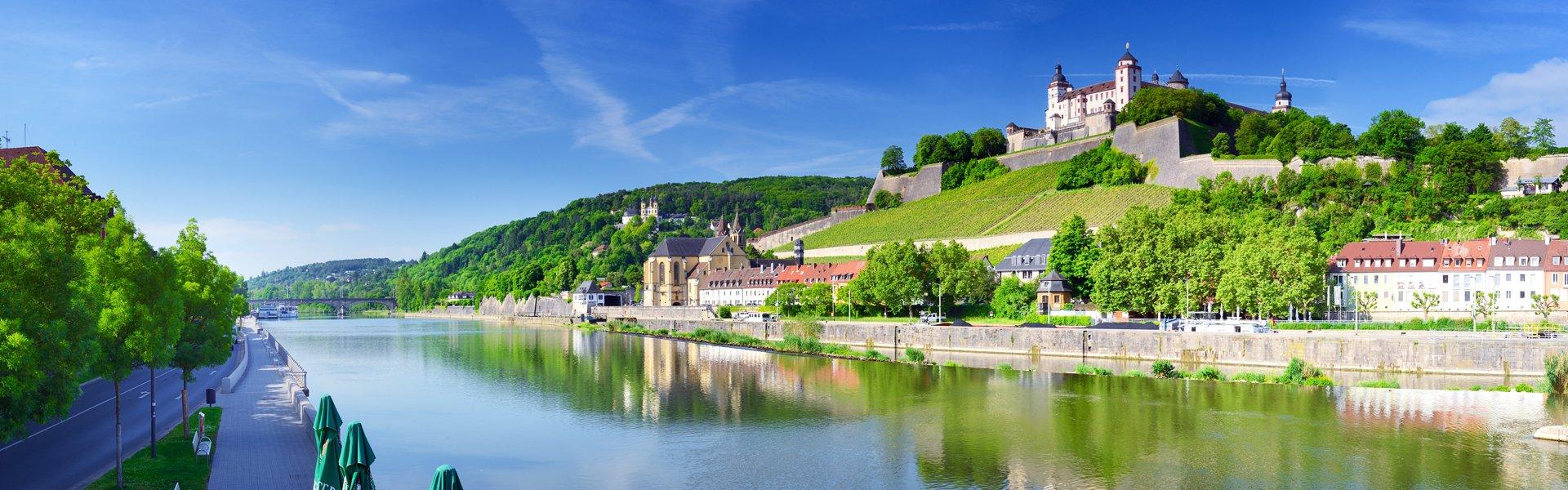 Uitzicht op Würzburg, Duitsland