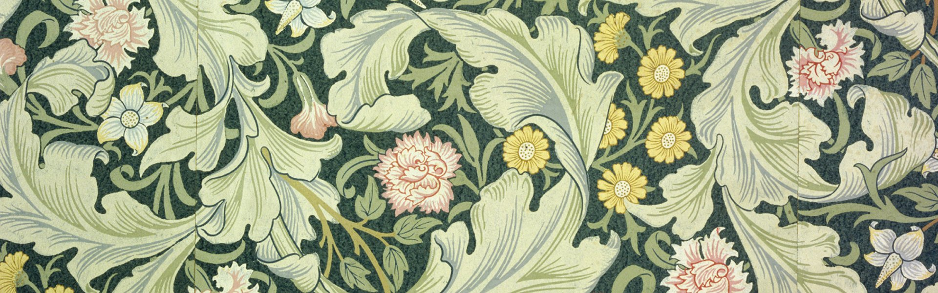 Behang naar ontwerp van William Morris, Groot-Brittannië