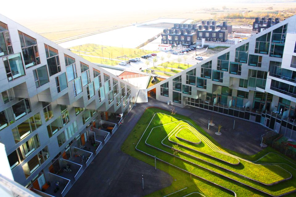 Futuristische wijk Ørestad, Denemarken