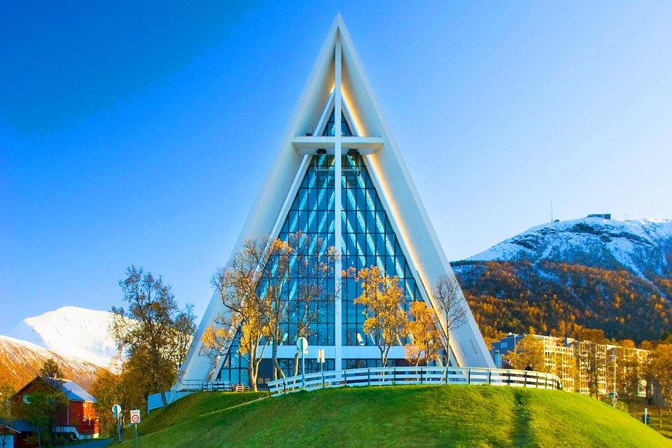 Tronso Tromsdalenkathedraal, Noorwegen