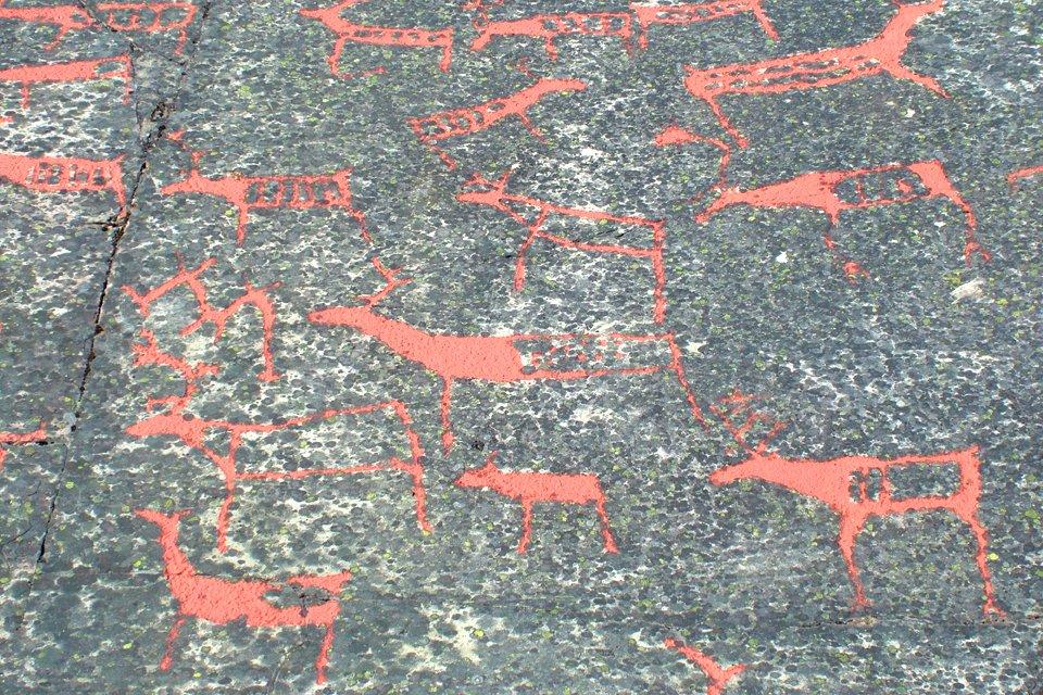 Alta rotstekeningen, Noorwegen