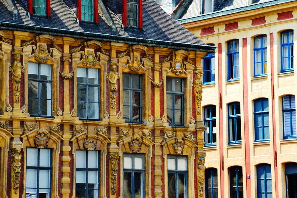 Oude beursgebouw in Lille, Frankrijk