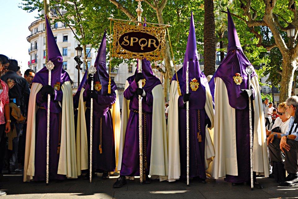 Processie tijdens de Semana Santa, Spanje