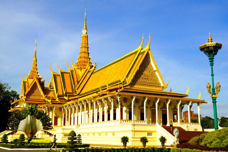 Koninklijk paleis in Phnom Penh, Cambodja