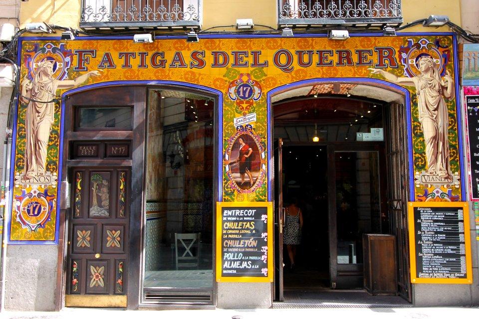 Fatigas del Querer, een typische bar in Madrid, Spanje