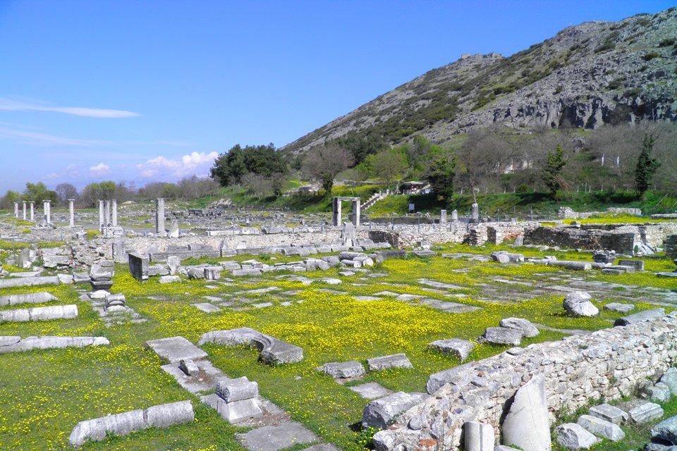 DE opgraving van Philippi in Griekenland