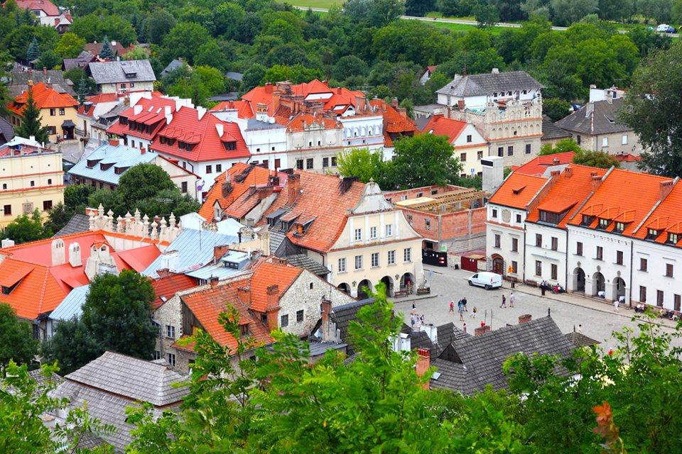 De oude joodse wijk Kazimierz in Krkau, Polen