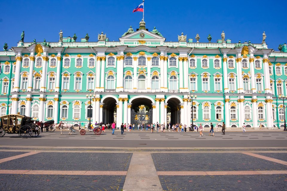De Hermitage in Sint Petersburg, Rusland