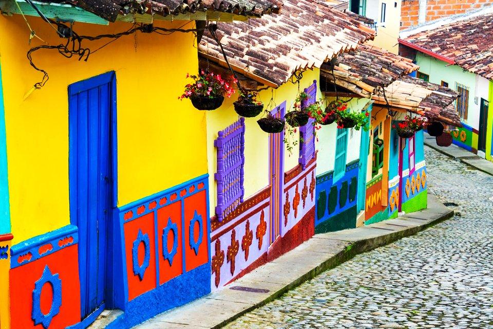 Koloniale wijk Candelaria in Bogotá, Colombia