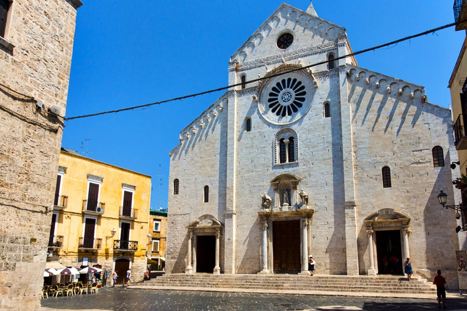 Kathedraal in Bari in Apulië, Italië
