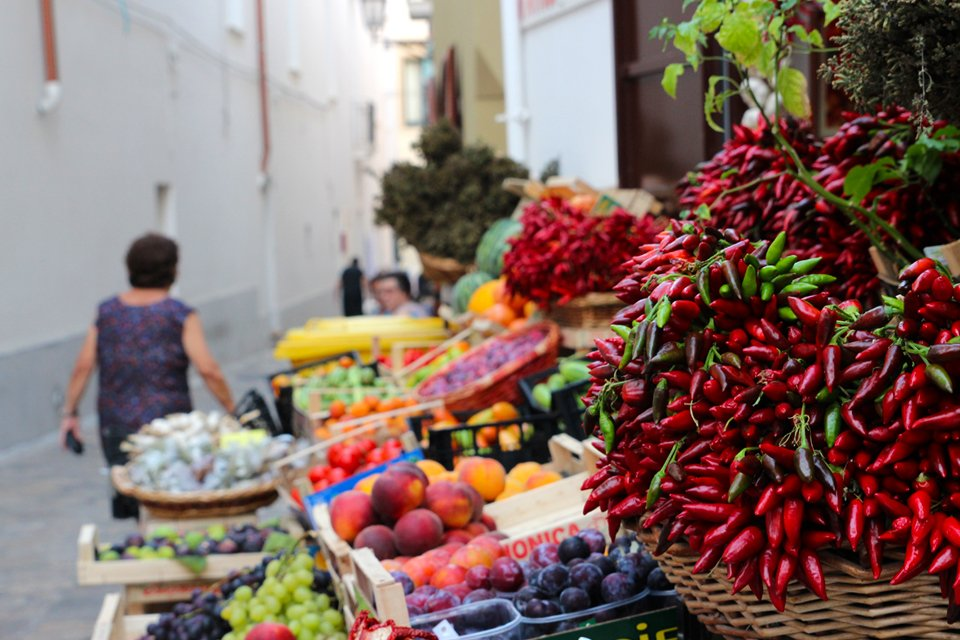 Markt in Apulië, Italië