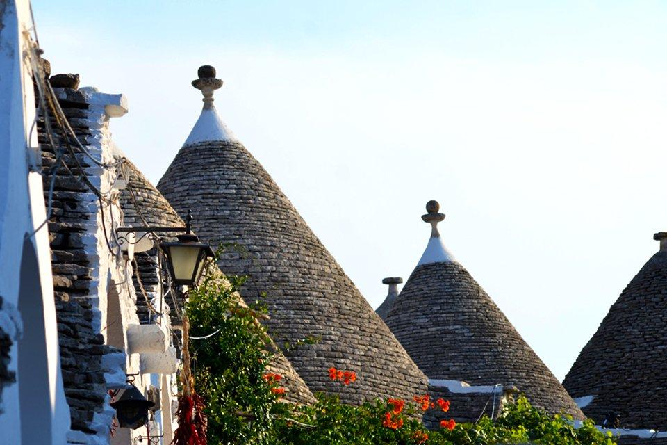Trullihuizen in Alberobello in Apulië, Italië