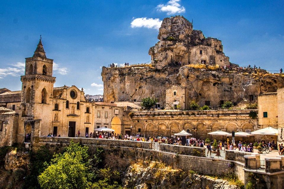 Matera in Apulië, Italië