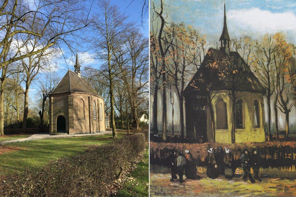 Het kerkje van Nueun van Vincent van Gogh