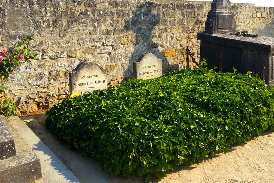 Het graf van Vincent en Theo van Gogh in Auvers-sur-Oise, Frankrijk