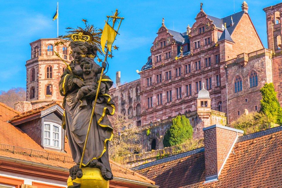Schloss Heidelberg in Duitsland