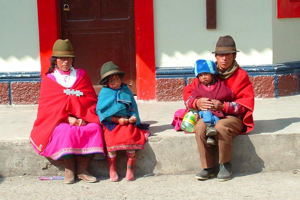 Gezin in Ecuador