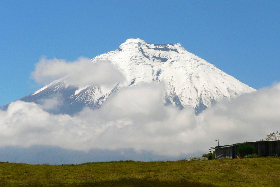 De Cotopaxi-vulkaan in Ecuador