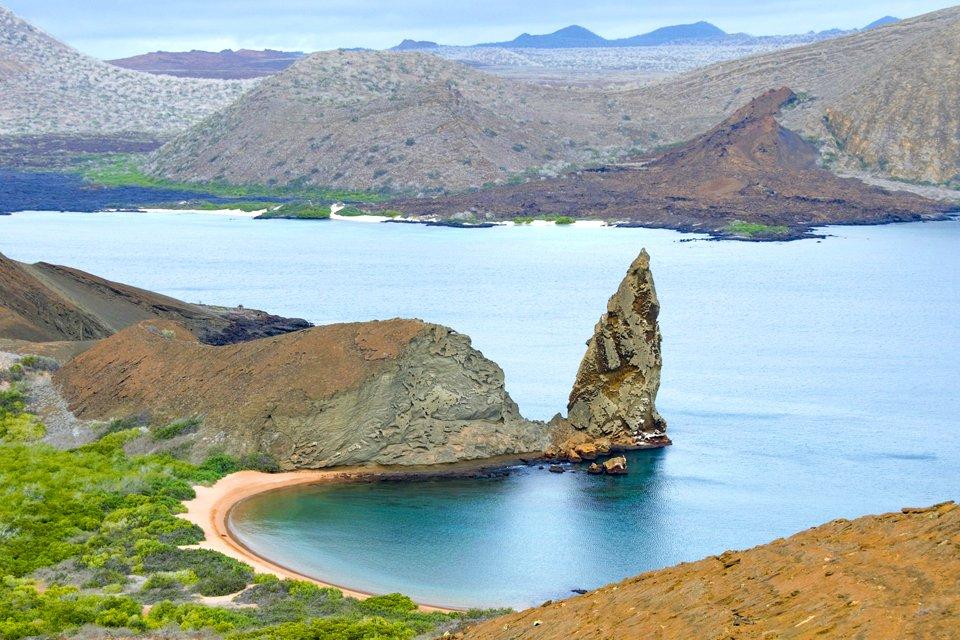 Bartolomé, een van de Galapagoseilanden in Ecuador