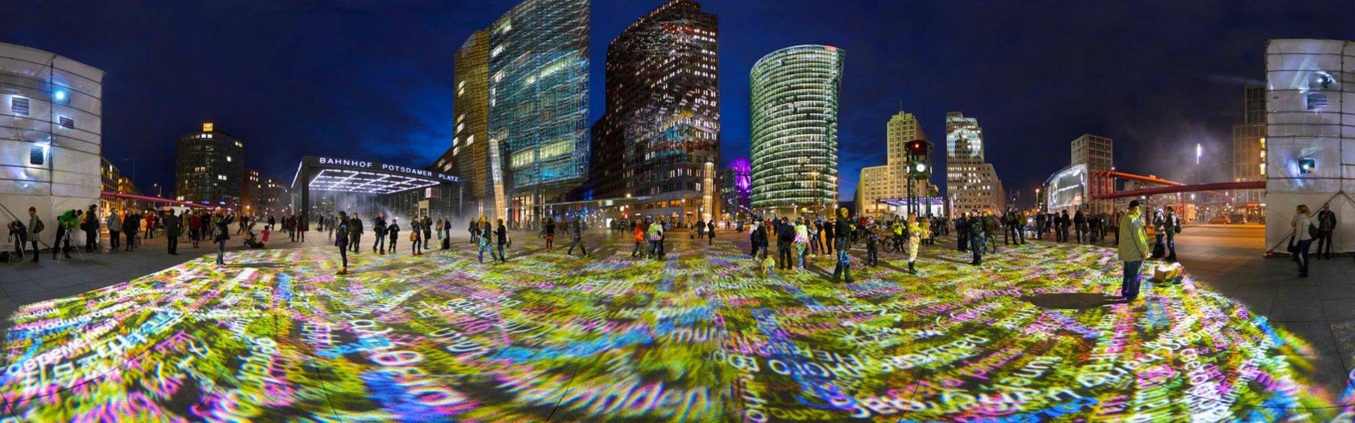 Berlijn tijdens het Festival of Lights