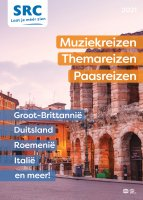 digitale brochure Muziekreizen, Themareizen en Paasreizen 2021
