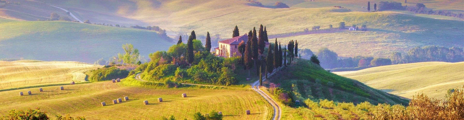 Toscaans landschap, Italië