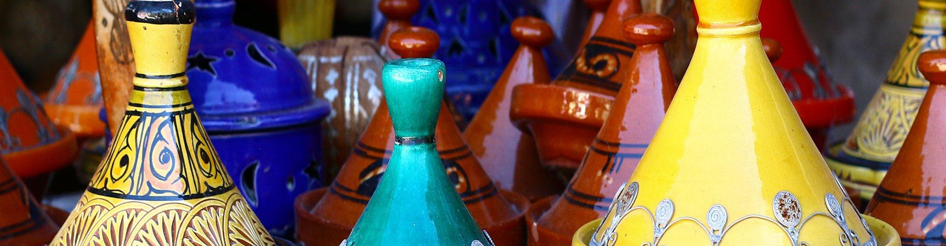 Kleurrijke tajines in Marokko