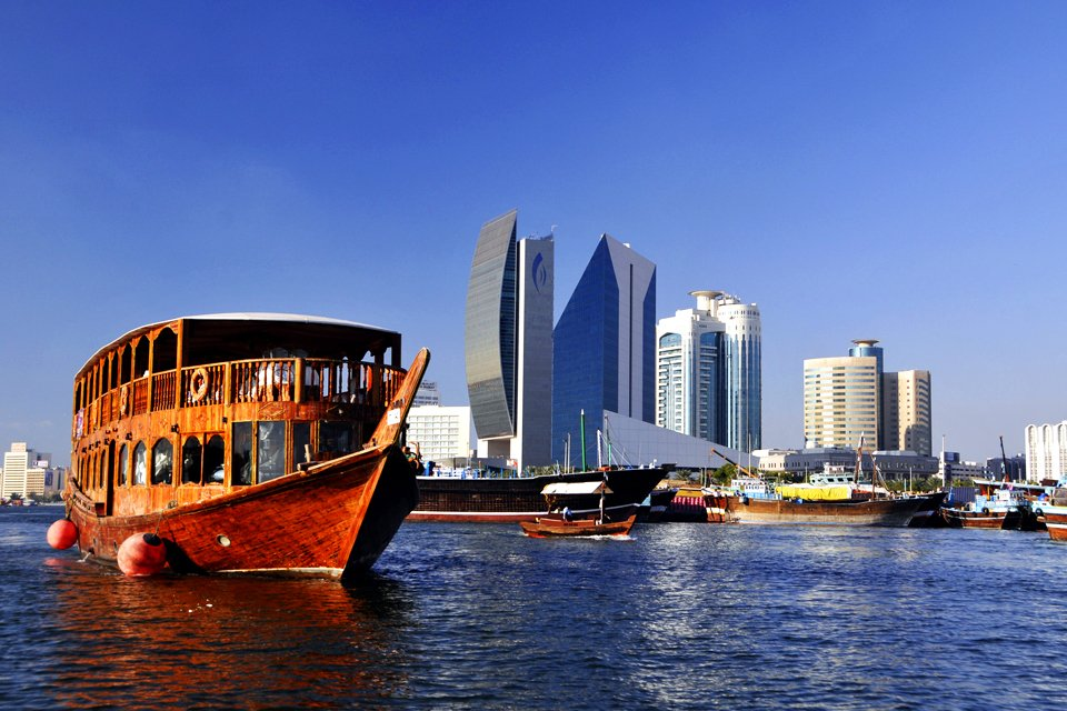Dubai Creek in Dubai, Verenigde Arabische Emiraten
