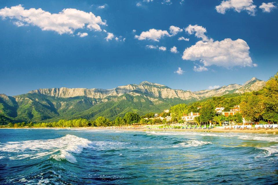 Het eiland Thassos in Griekenland