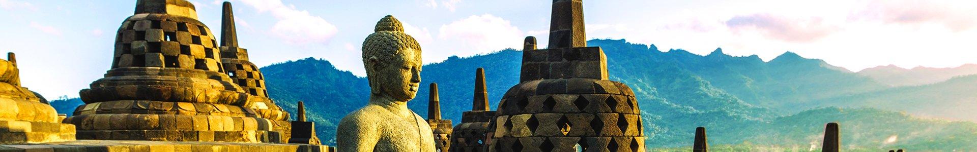 Borobudur op Java, Indonesië