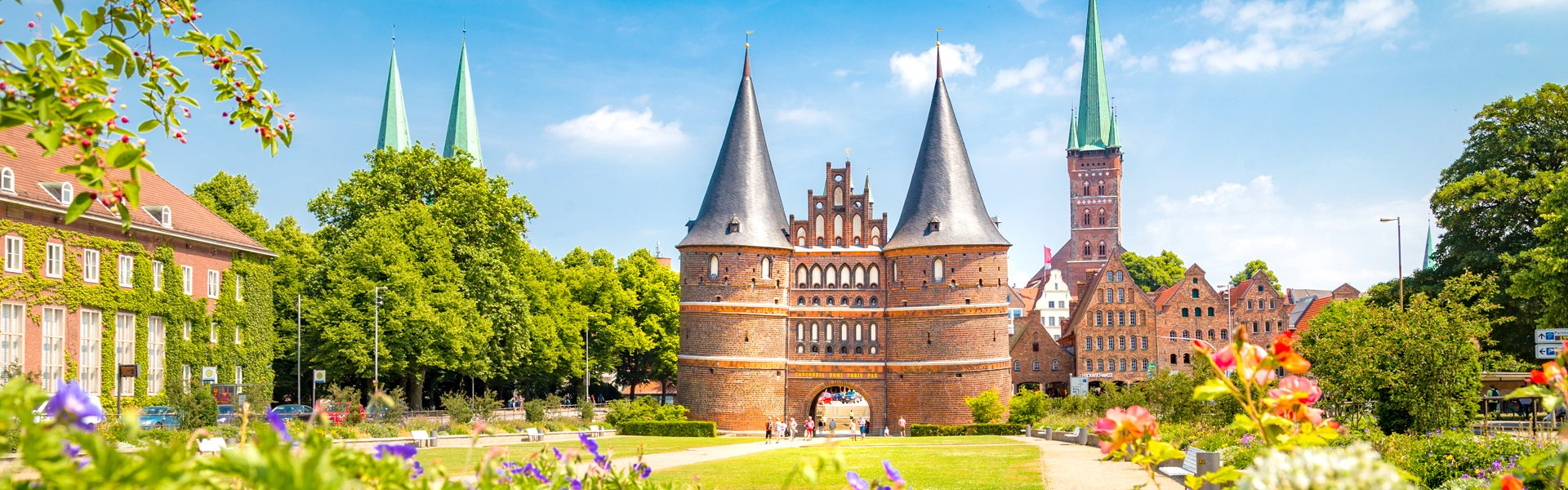 Holstentor in Lübeck, Duitsland