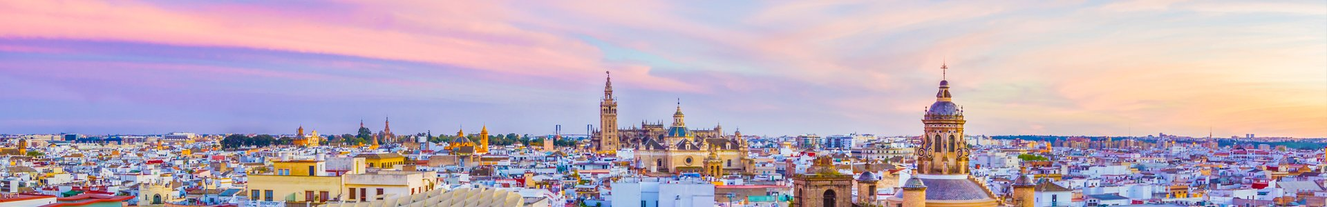 Sevilla vanaf Metropol Parasol, Spanje