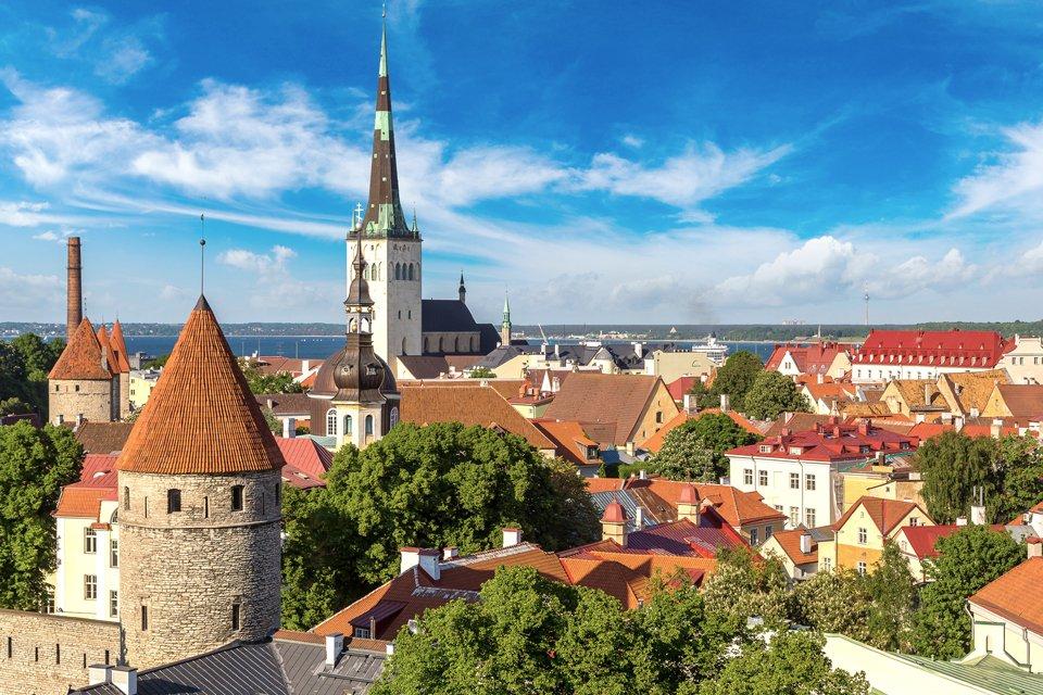 De oude stad van Tallinn, Estland