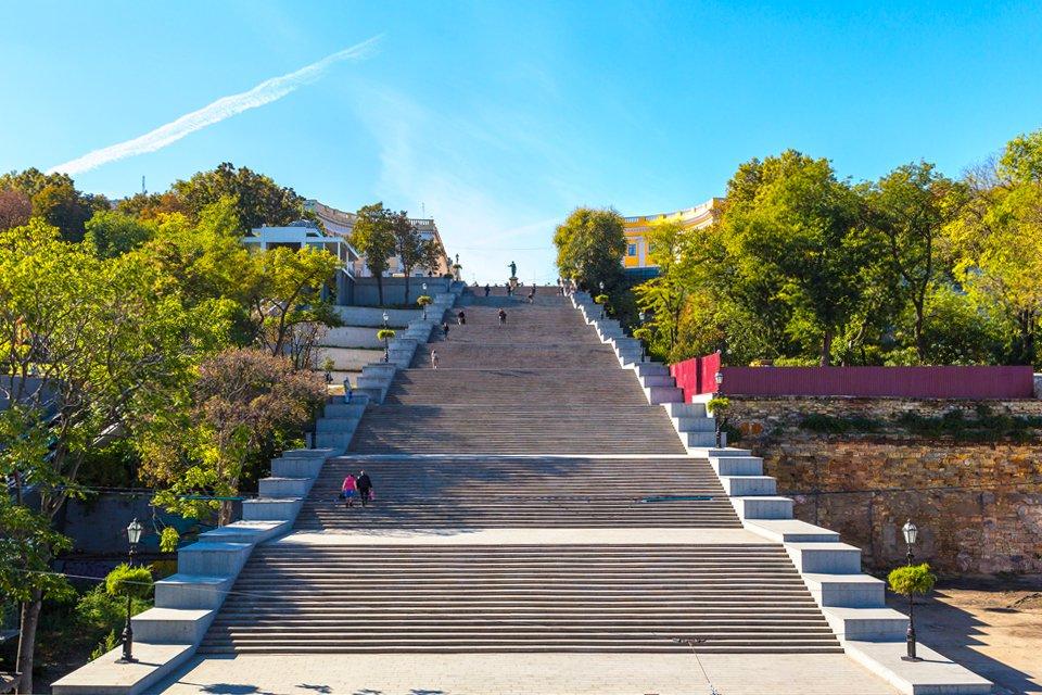 Potemkin trappen in Odessa, Oekraïne