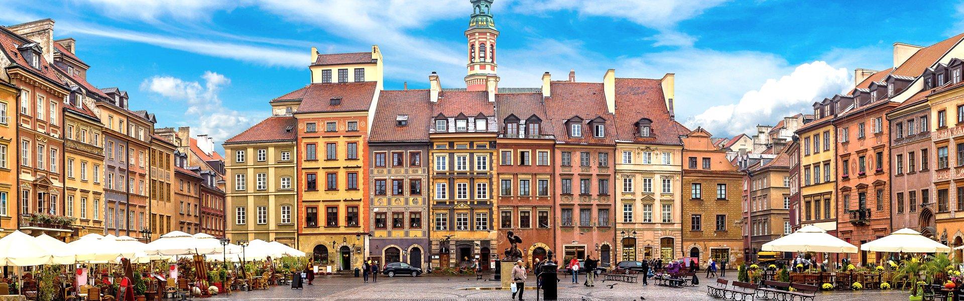 Centraal plein in Warschau, Polen