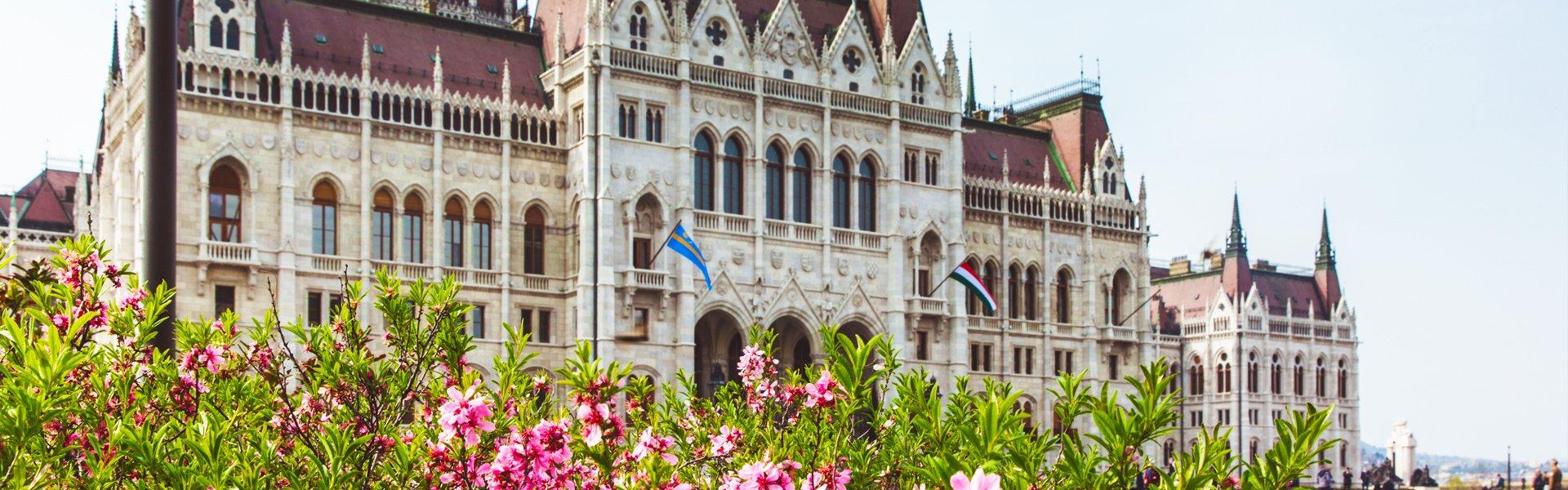 Het parlementsgebouw in Boedapest, Hongarije