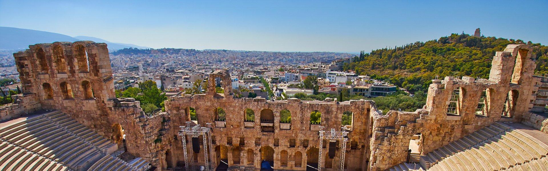 Theater Herodes Atticus in Athene, Griekenland