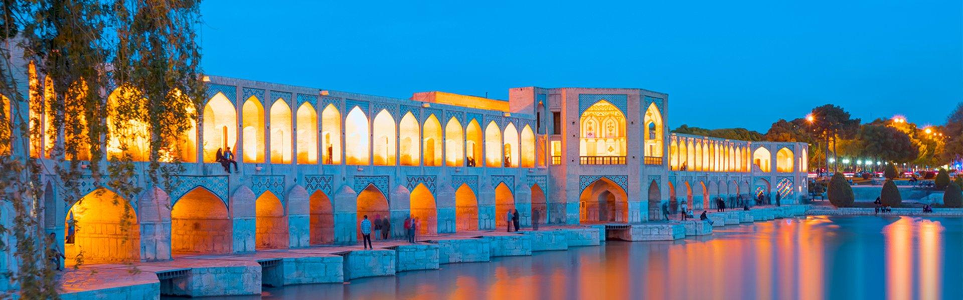 Pol-e Khaju brug in Isfahan, Iran