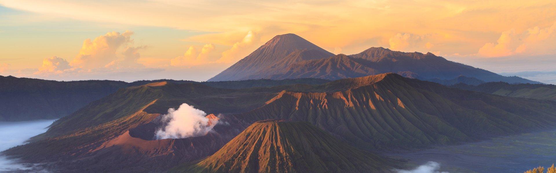 Bromovulkaan op Java, Indonesië