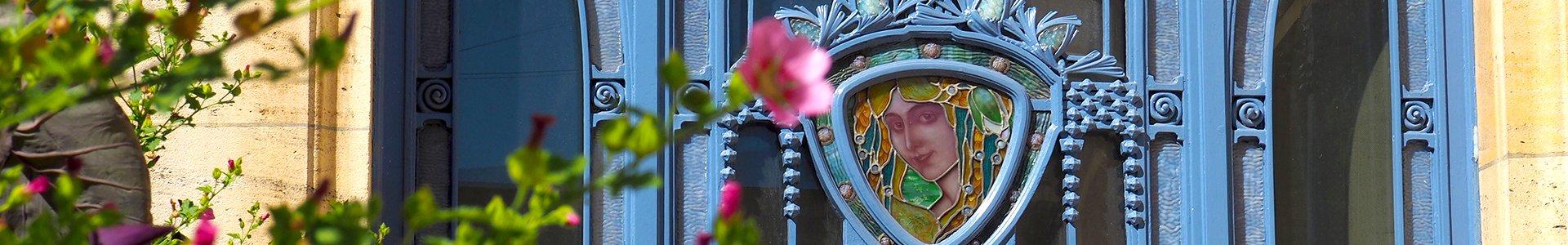 Glas-in-lood bij Musée de l'École de Nancy, Frankrijk
