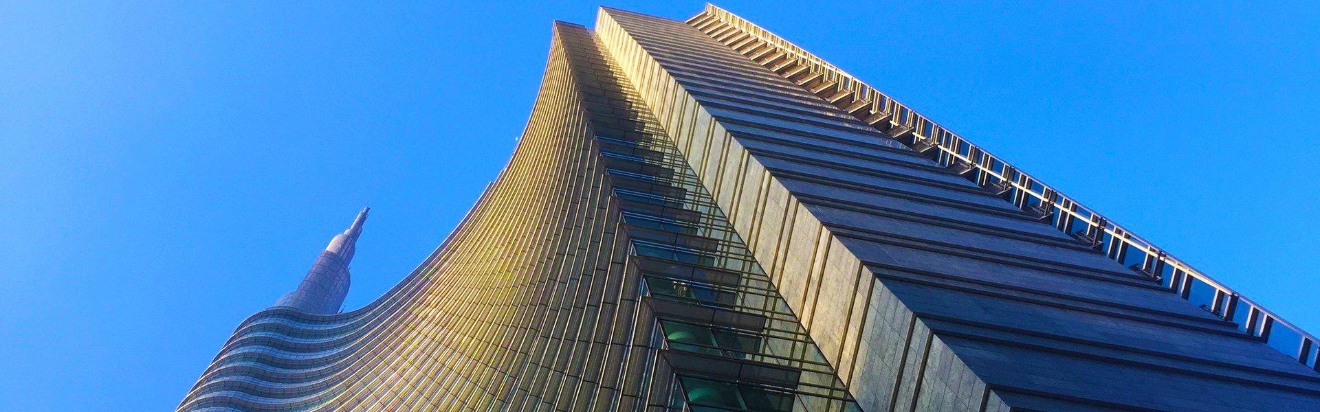 Torre Unicredit in Porto Nuova, Milaan, Italië