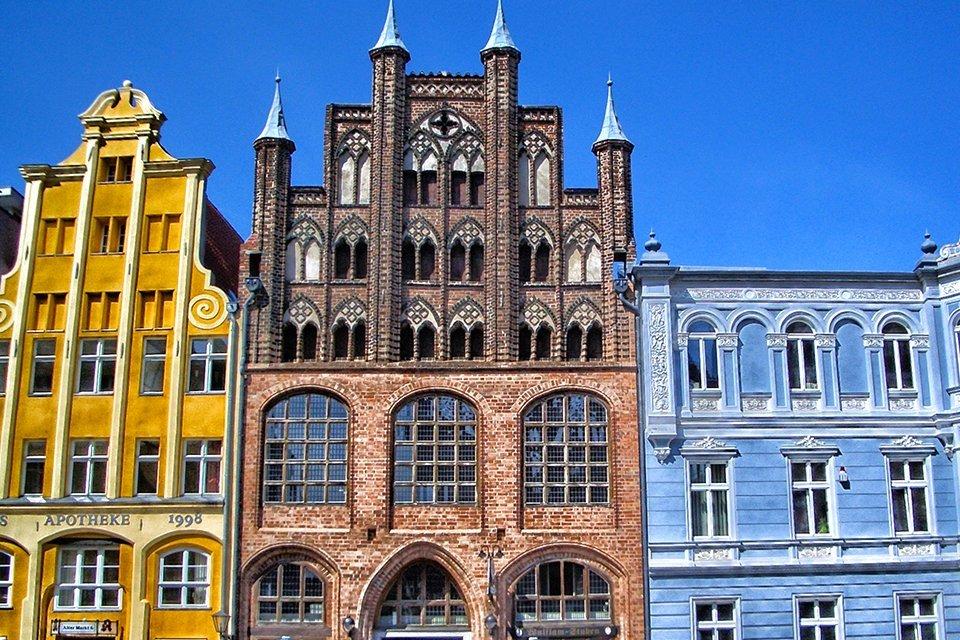 Oude binnenstad van Stralsund, Duitsland