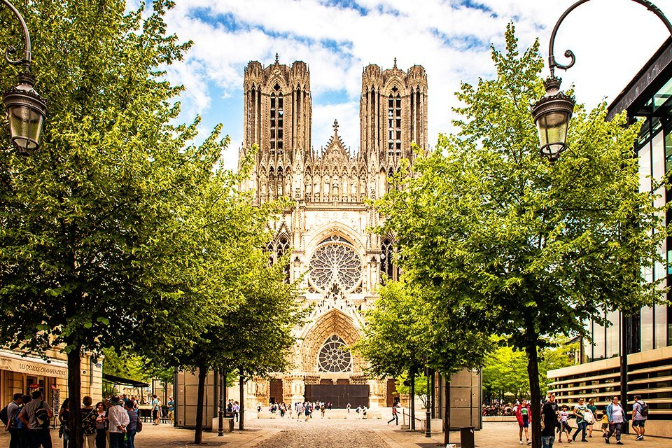 Notre Dame in Reims, Frankrijk