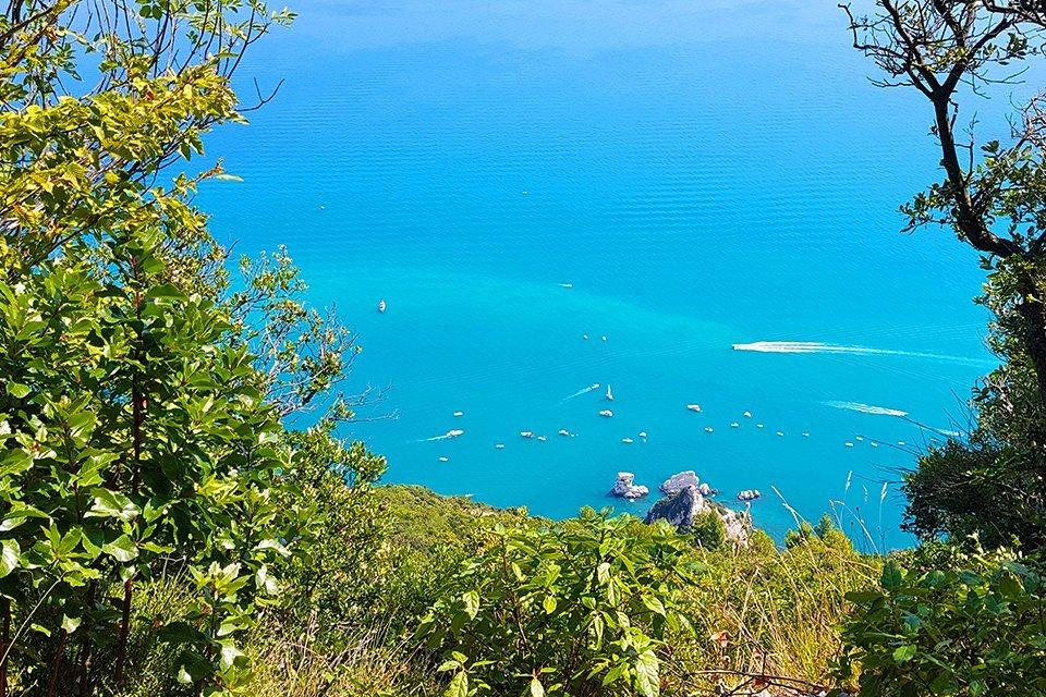 Kliffen van Conero in de Marken, Italië