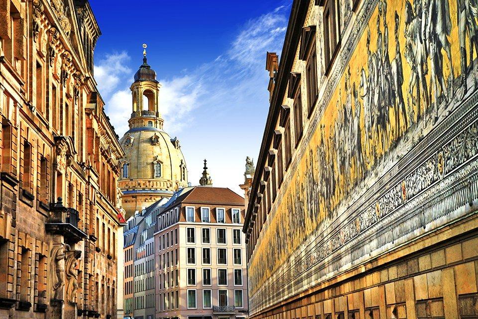 Langer Gang in Dresden, Duitsland