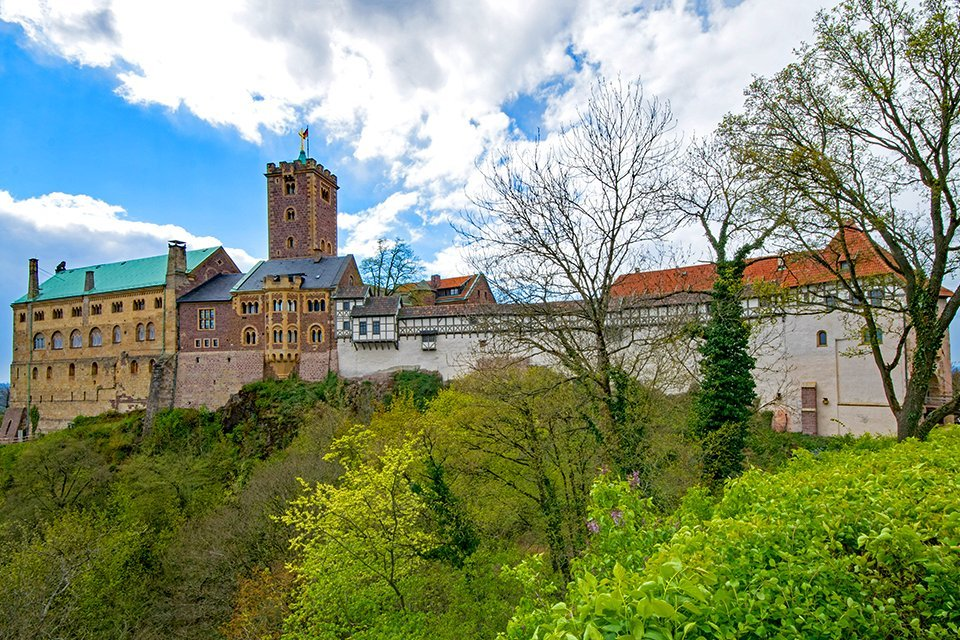 De Wartburg in Eisenach, Duitsland