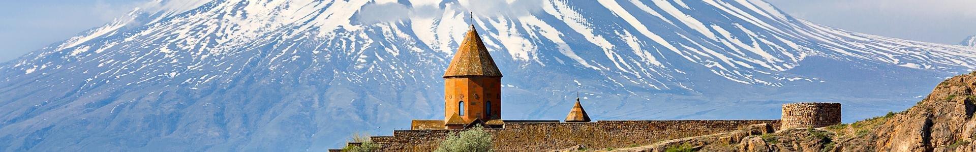 Berg van Ararat met Chor Virap klooster, Armenië