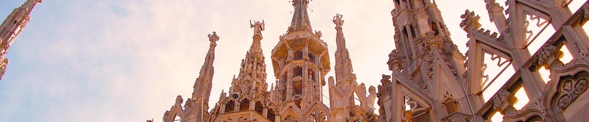 Dak van de duomo, Milaan, Italië