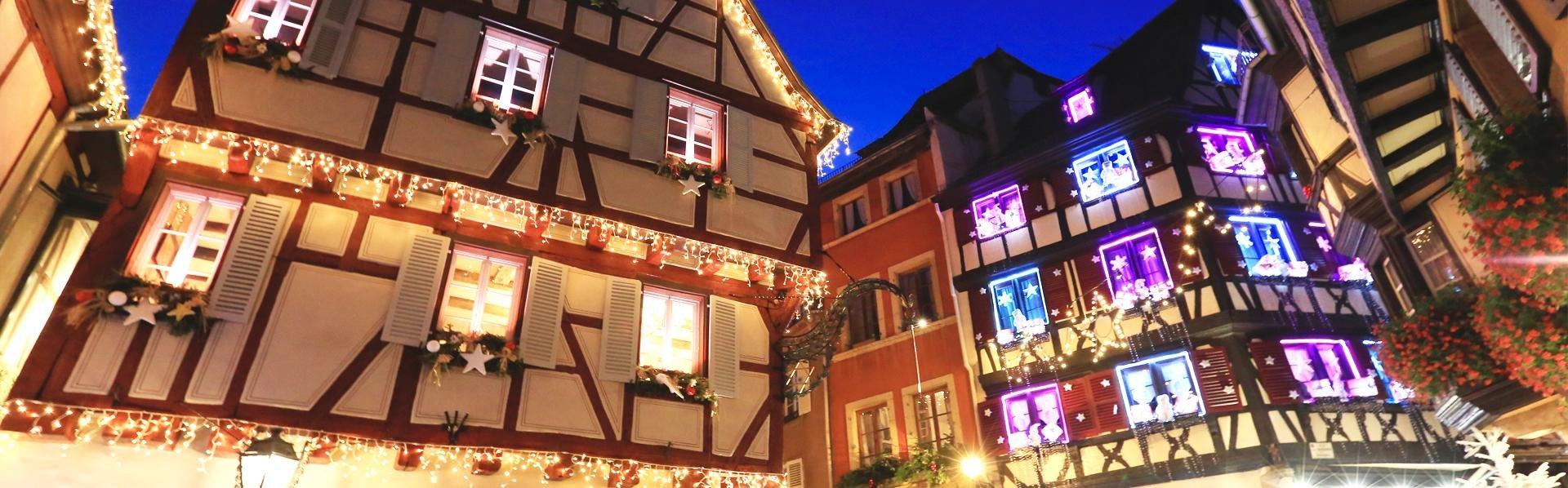 Colmar, Frankrijk, met kerst