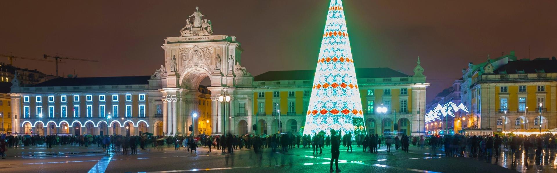 Lissabon, Portugal, met kerst